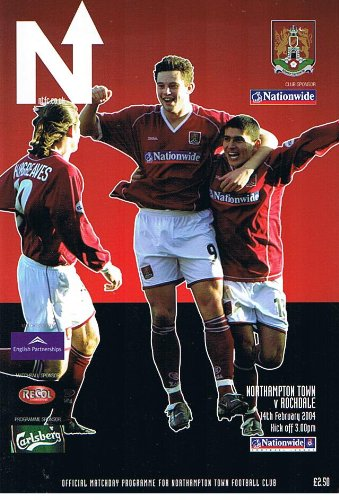 Northampton Town v Rochdale FC 14/02/2004 (Sixfields Stadium) football programme
