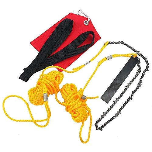 Outil de camping, scie à chaîne, extérieur portable de poche de poche de la main de poche de la scie de survie, kit de jardinage, voyage, marche, pêche, accessoire d'urgence