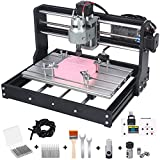 Upgraded Version 3018 Pro CNC Router Kit, mcwdoit GRBL Control 3 Axis DIY CNC Engraving Machine, Wood Acrylic Plastic PCB MDF Milling Engraver with Offline Controller, CNC Router Bits, 300x180x45mm