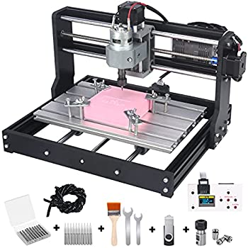 Upgraded Version 3018 Pro CNC Router Kit mcwdoit GRBL Control 3 Axis DIY CNC Engraving Machine Wood Acrylic Plastic PCB MDF Milling Engraver with Offline Controller CNC Router Bits 300x180x45mm