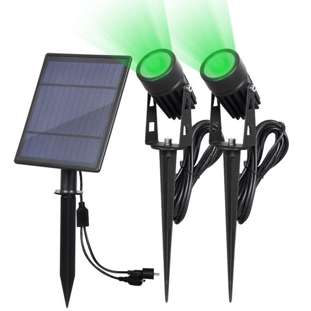 RXRENXIA Foco Solar, Luces De Seguridad Que Funcionan con EnergíA Solar - Luces Exteriores Impermeables para El Patio Patio CéSped De JardíN, áNgulo Ajustable De 180 °, Encendido/Apagado,Luz Verde: Amazon.es: Hogar