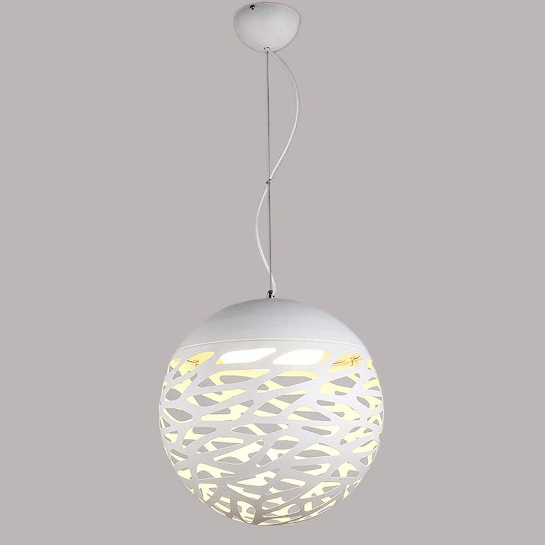 Lampe Hngeleuchte, Einfache Eisenhohlfaser Einfach Für Esszimmer, Bar, Wohnzimmerbelichtung, Flur, Telleraufhngungsprojekt, Wei;