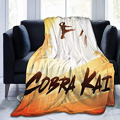 Co-br-a Kai Karate Throw-Blankets Sided Small Super Soft Luxurious Plush Blanket Comfort Warmth 3D Printed HD Air Conditioning Blanket 80'x60'