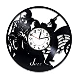 Kovides Jazz Vinyl Clock 12 Inch Music Genre Birthday Gift Idea Jazz Vinyl Record Wall Clock Music...