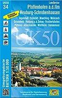 Pfaffenhofen - Schrobenhausen 1 : 50 000 (UK50-34): Ingolstadt, Eichstaett, Manching, Wolnzach, Geisenfeld, Vohburg a.d. Donau, Reichertshofen, Poettmes, Allershausen, Wellheim, Donaumoos