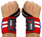 DMoose Fitness Wrist Wraps for Weightlifting, Powerlifting, Strength Training, Benching, Bodybuilding & Thumb Loops with Adjustable Straps, Men and Women