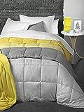 Atenas Oferta Color Mostaza Nórdico Copenhague Reversible rayita/Liso - Cama indiviudual - 150x220 - Mostaza