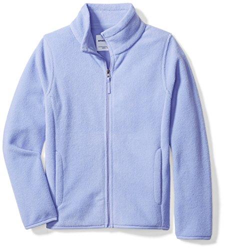 Amazon Essentials Big Girls' Full-Zip Polar Fleece Jacket, Periwinkle Purple, Medium