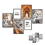 Art by Flavia 2 EN 1 | Set de 6 Laminas Decorativas a Doble Cara - anverso: Buda Zen Meditacion Collage | Reverso: Pósters en Blanco y Negro | 4 x A3 + 2 x A4 | Posters para Pared – SIN Marcos
