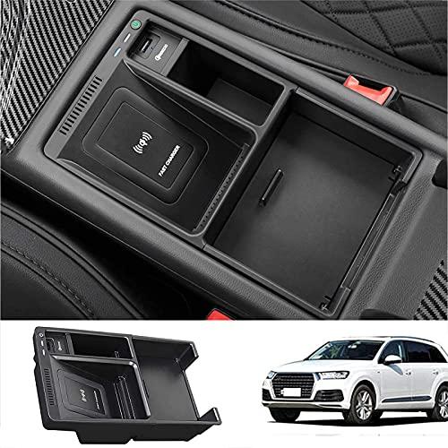 Cargador Inalámbrico Coche Para Audi A4 A5 S4 S5 2017-2021 Panel Accesorios Consola Central, Estera Del Cojín Del Cargador Del Teléfono de Carga Rápida Qi de 10W Para Los Accesorios Audi A4 A5 S4 S5