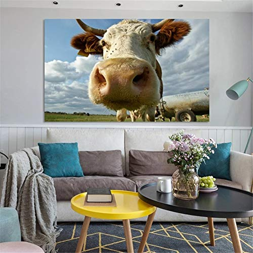 Diamond Painting large Full Drill Cielo de vaca,5D DIY pintura Diamantes de imitación de cristal dot punto de cruz bordado art craft for Living bedroom wall decor Round Drill,30X50cm(12x20in)