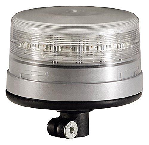 HELLA 2XD 010 311-011 Rundumkennleuchte - K-LED FO - LED - Lichtscheibenfarbe: transparent - LED-Lichtfarbe: gelb - Rohrstutzen