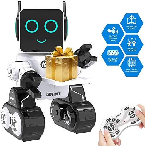 Ok K! okk Roboter Spielzeug für Kinder, Lernspielzeug Robotik für Kinder Singen, Tanzen, eingebautes Sparschwein, Touch Control, Rekorder, wiederaufladbare Fernbedienung Robot Kit Geschenk für Kids