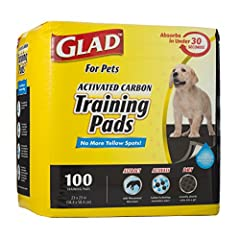 ABSORBS PET URINE AND ODOR — Glad Pets carbon-activated puppy pads absorb odor and pet urine MADE WITH 5 STRONG LAYERS — Wee wee pads for dogs are made with 5 layers, which ensure leak proof protection from dog and puppy stains. The polymer layer abs...