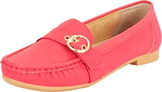 Cambridge Select Women's Buckle Slip-On Flat Moccasin Loafer