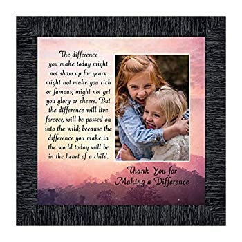 Crossroads Home Décor Teacher Gifts to Say Thank You Principal Gifts or Daycare Teacher Gifts You Make a Difference Quote Thanking Those Who Work with Children Teacher Appreciation Gifts 6394CH