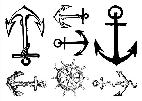 Anchor Temporary Tattoos Sailor Waterproof Tattoo Stickers 2pcs/lot