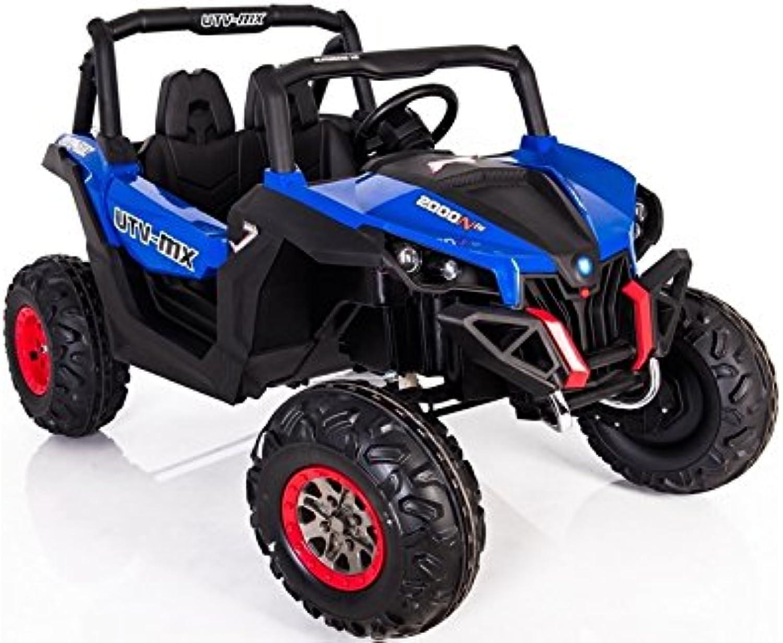 todos los bienes son especiales Coche Coche Coche Electrico para Niños Auto Alimentado con Batería Vehículo Eléctrico Control Remoto - Jeep XMX - Azul  primera vez respuesta