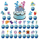 Blues Clu_es Cake Topper - 25PCS Blues Clu_es Party Supplies Blues Clu_es Birthday Decorations for Kids