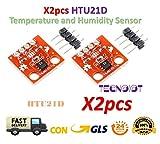 TECNOIOT 2pcs HTU21D Temperature and Humidity Sensor Module Temperature Sensor Breakout