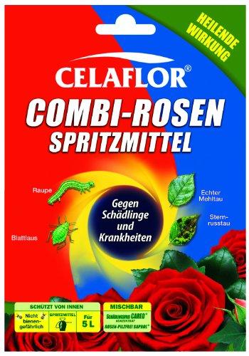 Celaflor Combi-Rosenspritzmittel, 2 x 25 ml Rosen-Pilzfrei Saprol, 2 x 25 ml Schädlingsfrei CAREO Konzentrat - 4 x 25 ml