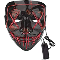 M.Jone LED Lights up Halloween Scary Mask with 4 Modes