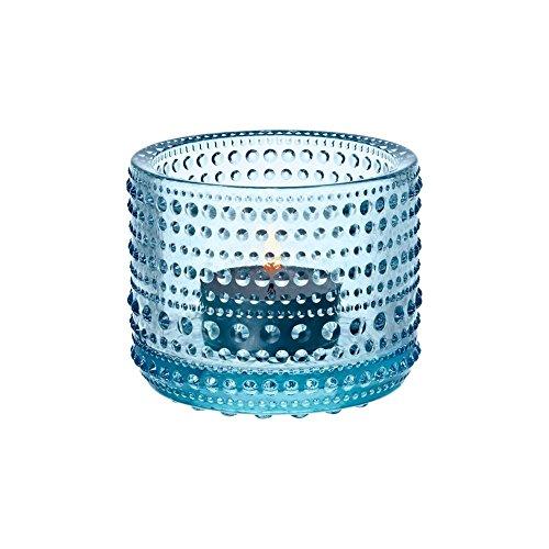 Iittala - Kastehelmi - Windlicht/Teelichthalter/Stimmungsbeleuchtung - 64 mm - Hellblau