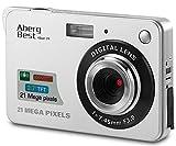 AbergBest Fotocamera digitale 2,7' schermo LCD Videocamera digitale in HD per studenti, per ambienti interni o esterni, per adulti, anziani, bambini (Argento)