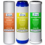 iSpring F3 6-Month Prefilter Replacement Supply Filter Cartridge Pack Set for...
