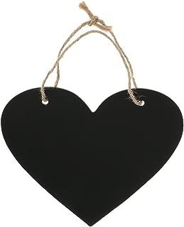 WINOMO Heart Chalkboard Sign Wedding Hanging Decoration Wooden Blackboard