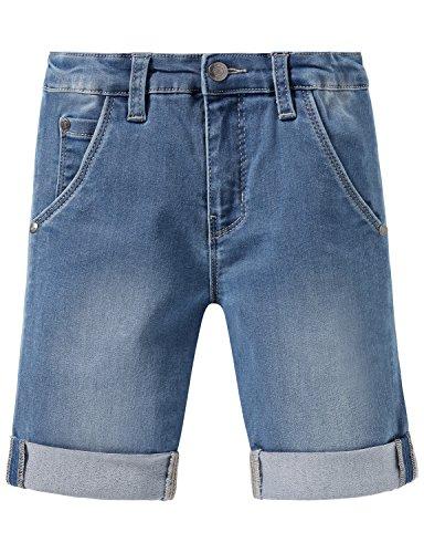 Schiesser Jungen Hose Denim Shorts, Blau (Hellblau 805), 110