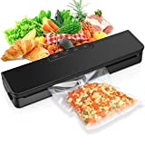 Amagarm Vacuum Sealer Machine, Automatic Food Sealer Air Sealing System for Food Savers w, Starter Kit, Seal a Meal Foodsave Packing, Led Indicator Lights,Dry & Moist Food Modes(15 Pack Bags)