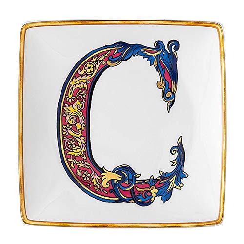 Versace by Rosenthal - Schale, Teller, Schälchen - Holiday Alphabet - C - 12 x 12 cm - Porzellan