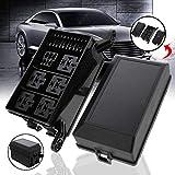 IENPAJNEPQN Mayitr 1 Set 12-Slot Caja de relés Relés 6 6 ATC/ATO fusibles Soporte del Bloque + 41pcs Pins metálicos Universal for Todos los vehículos del Carro del Coche