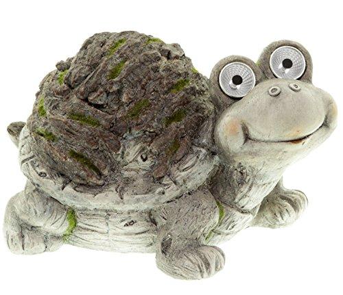 Deko Solarfigur Schildkröte Gartenfigur mit Solarlicht 35 cm