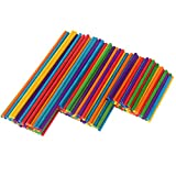 DXIA Pack de 150 Palitos de Madera Redondos, Varillas de Madera para Manualidades, Palitos de...