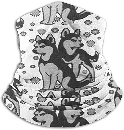 Funny Husky Husky Dog-nekwarmer, sun-proof nek-gaier-tube soft elastisch balaclava half masker unisex windproof skinekbescherming