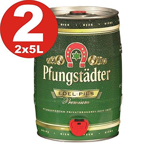 2 x Pfungstaedter Edel Pils Premium 5 Liter Partyfass 4,9% vol
