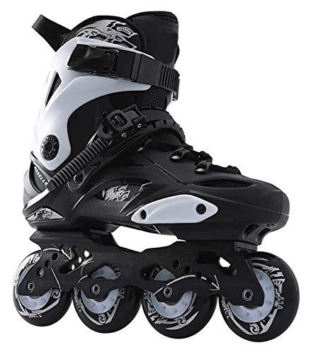 ZRH Einstellbare Inline-Skates Roller Skates Vier-Rad-Skates Inline-Skates Eishockey-Skates für Adulto für Erwachsene Skates Inline-Profi Rollschuhe Verstellbar (Color : Black, Size : 39EU)