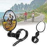 CHUER Fahrradspiegel, Radfahren Reiten Rückspiegel, Fahrrad Rückspiegel Universal Radfahren Fahrrad Mountainbike Lenker 360 Grad Drehung Reflektor Spiegel - 2 STÜCKE