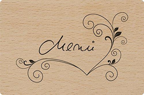 HEYDA 204888614 Motiv Stempel Text: Menü