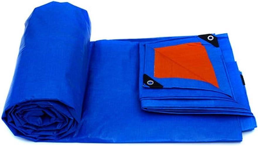 CZWYF Baches imperméables de 12,6 mil de Pluie épaisse Couvre Les Toiles de Camping Bleues - Parfait pour la randonnée, Le Camping, l'abri, l'ombre, la Couverture du Sol (Taille   8x6m)
