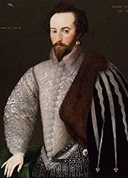Wall Art Print entitled Sir Walter Raleigh Circa 1588 by Celestial Images   11 x 15