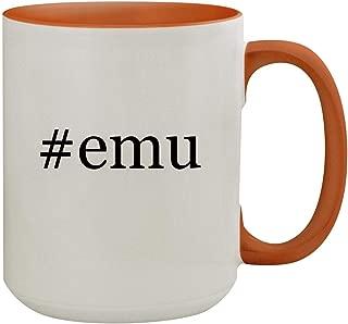 #emu - 15oz Hashtag Colored Inner & Handle Ceramic Coffee Mug, Orange