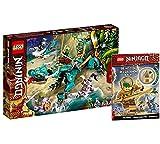 Collectix Lego Set – Ninjago Dragón de la jungla 71746 + Ninjago La misión del ninja dorada (cubierta blanda)