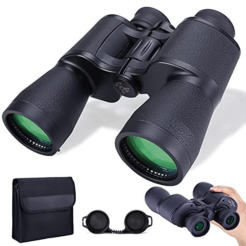 Binocolo 10x50 per Adulti Binocolo Professionale/Impermeabile HD Compatto con Visione Notturna in Condizioni di Scarsa Illuminazione per Birdwatching Viaggi Caccia Concerti Sport