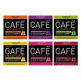 VIAGGIO ESPRESSO - 60 Cápsulas de Café Compatibles con Máquinas Nespresso. (SELECCIÓN SIN DECAFFEINATO)