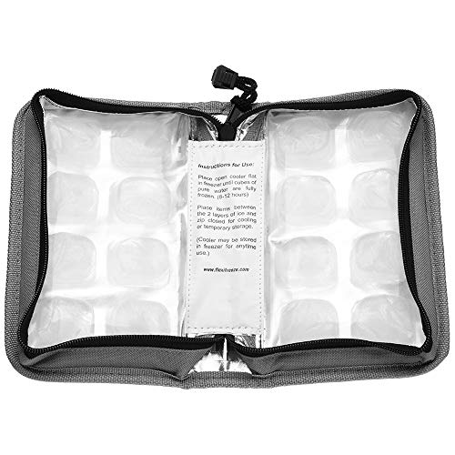 Product Image of the FlexiFreeze Pocketbook Breastmilk Cooler, Gray