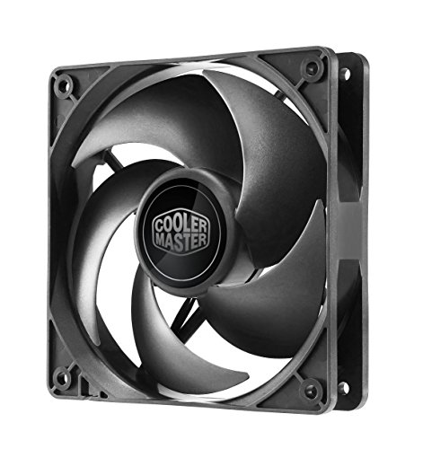 Cooler Master Silencio FP 120 PWM Ventilador de PC, Carcasa del ordenador, 4 Pins, 12 cm, Negro, 0.03A, 0.36W