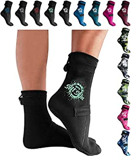 BPS - 3mm High Cut & Low Cut Neoprene Diving Socks for Men and Women